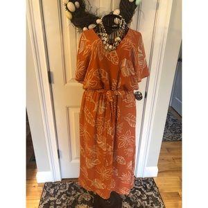 Sienna Sky Women's Palm Leaf Dress